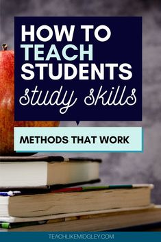 How to teach students study skills with methods that work. These methods are ideal for middle school students. Help students find success in any subject area. #studyskills #studyskillsformiddleschoolers #studyskillworksheets #studytips #studymode