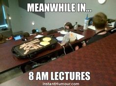 Students in early morning lectures