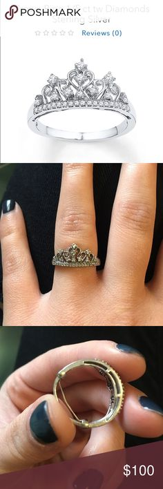 Kay jewelers sterling silver tiara ring size 6 1/2 This ring is in PERFECT condition! It looks brand new and will look even better when I clean it. It comes with a ring guard (i can take it off if you want). I will even give you the box it came in. Perfect Christmas gift for sister/girlfriend/mom!!! Price is negotiable Kay Jewelers Jewelry Rings