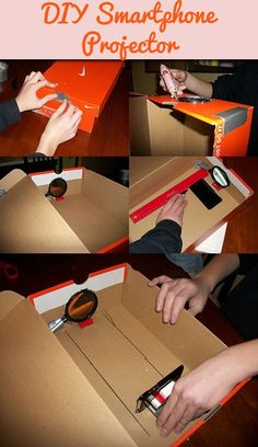 DIY smartphone projector. Perfect for a Baylor dorm!
