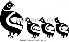 Image detail for -Native American Quail Family Stock Vector 14035177 : Shutterstock