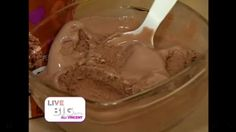 Here's a lower calorie choice to chocolate ice cream!  LIVE BIG!