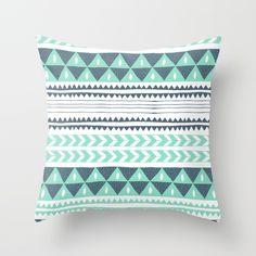 Winter Stripe Throw Pillow by Alice Rebecca Potter | Society6 #pillow #homedecor #decorpillows