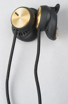 The Marshall Minor Headphone in Black and Gold