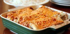 This recipe looks good - Chicken Enchiladas