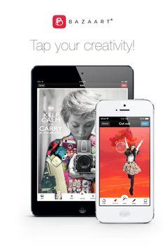 Explore sua criatividade! Bazaart é uma maneira divertida e fácil de criar colagens incríveis.