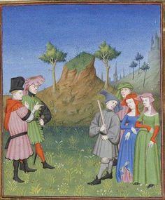 Publius Terencius Afer, Comoediae [comédies de Térence] ca. 1411;  Bibliothèque de l'Arsenal, Ms-664 réserve, 95r