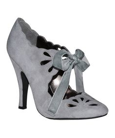 Loving this Gray Cutout Buffy Suede Pump on #zulily! #zulilyfinds