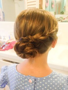 Children's hairstyles, kids up do, blond hair braided up do, blond hairstyles