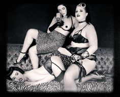 """""""LES BADGIRLS DE LA BASSE-VILLE"""" a faux-film by Frank Lam Photography Starring Lily Monroe, Wildy Valentine & Loulou Velours  Lily Monroe, pinup model and burlesque performer from Montreal: https://www.facebook.com/LilyMonroeBURLESTACULAR #burlesque #showgirls #pinupmodel #pinup #rockabilly #psychobilly #badgirls #basseville #quebec #montreal #retro #vintage #fauxfilm #the cramps #kinky #fetish #bettiepage #spanking"""