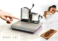 Wake Up Food Alarm by De Dietrich Juice and coffee or chocolate and toast on alarm, when you wake. Every single day!