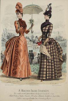 Victorian Era Fashion, 1880s Fashion, Victorian Women, Vintage Fashion, Victorian Costume, Historical Costume, Historical Clothing, Historical Fiction, Gravure Illustration