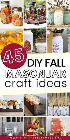Get your home fall ready with these best fall mason jar crafts. Easy to make these best fall mason jar crafts are a fun way to glam up your home for autumn. Mason Jar Pumpkin, Fall Mason Jars, Mason Jar Diy, Cheap Mason Jars, Mason Jar Cakes, Mason Jar Centerpieces, Mason Jar Gifts, Vases, Mason Jar Candle Holders