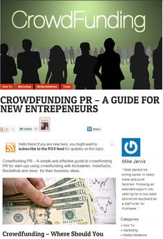 A Guide to Crodfunding PR http://www.publiseek.com/publicity/crowdfunding-pr-a-guide/