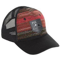 Pistil Dwight Trucker Hat (For Men) in Black
