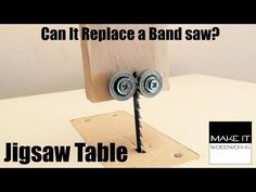 How to make a Jigsaw Table | Make It Woodworks - YouTube