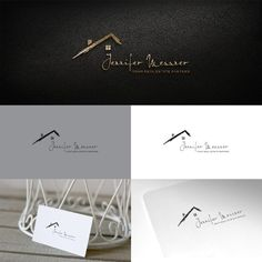 Jennifer Messner - elegant real estate logo that screams luxury Real Estate Services. I am a licensed realtor and provide services to both buyers and sellers in residential real est. Luxury Logo Design, Real Estate Logo Design, Real Estate Branding, Ideas Para Logos, Real Estate School, Jenifer, Real Estate Business Cards, Logo Real, Realtor Logo