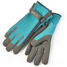sophie conran everyday gardening gloves in beautiful sea green also available in raspberry one