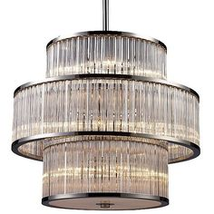 ELK Lighting Braxton Pendant ($1,546) ❤ liked on Polyvore featuring home, lighting, ceiling lights, clear and elk lighting