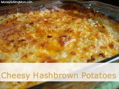 Cheesy Hashbrown Potatoes, w/out cream soup - I used Mexican Blend cheese and southern style (diced) hash browns. It was ridiculously easy and yummy and I had no leftovers. Cheesy Potatoes With Hashbrowns, Cheesy Hashbrown Casserole, Breakfast Casserole, Cheese Potatoes, Potato Casserole Hash Brown, Breakfast Potatoes, Mashed Potatoes, Fresh Potato, Good Food