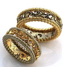 Ажурные обручальные кольца. На заказ. 2-3 недели. 40 000 руб.