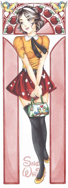 Snow White - Cartoon High by HayashisSheep.deviantart.com on @DeviantArt - Modern-day AU