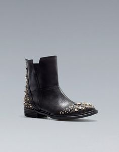 FLAT JEWELLED ANKLE BOOT -  I WANT THESE NOW
