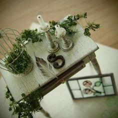 小さな完成品。 #miniature #handmade #antique #オーダー品