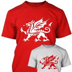 WELSH DRAGON - Mens T SHIRT - Wales Gift Present Idea - S M L XL XXL XXXL