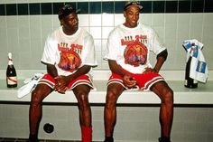 Jordan & Pippen post championship.