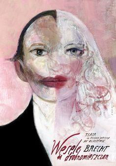 A Respectable Wedding, Brecht, Polish Theater Poster
