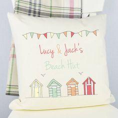 Personalised 'Beach Hut' Cushion