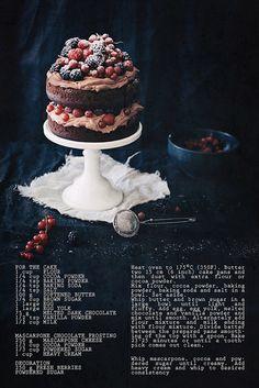 Chocolate mascarpone cake by Call me cupcake, via Flickr