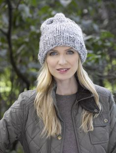 ff689a2e140 Simple Knit Hat - child and adult sizes - yarn super bulky (6)