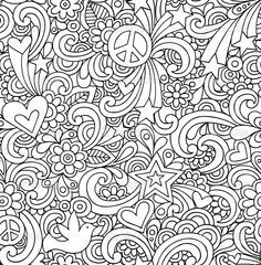 1960s Background Coloring Pages