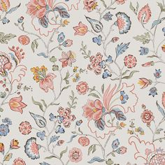 A lovely wallpaper inspired by a popular 18th century pattern. The well-balanced colours in this sinuous floral pattern, makes it easy to use Dagmar to paper entire rooms.