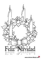 Dibujos de feliz navidad para colorear.Feliz Navidad dibujos para imprimir