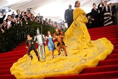 """This is its own level of funny, but the best comment I saw from New Orleans fb friends goes to Mr. VP: """"VERY IMPORTANT. Is any Mardi Gras krewe missing the big giant cape from their King or Queen float? (because I think Rihanna wore it to the Met Gala tonight.)"""""""
