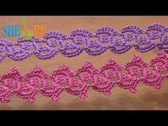 Crochet Lace Braid Ribbon Tape Tutorial 31 3-Double Crochet Cluster - YouTube