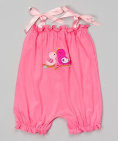 Loving this Strawberry Bird Bubble Romper - Infant & Toddler on #zulily! #zulilyfinds