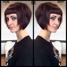 hope to be at this length by next may Gothic Hairstyles, Short Bob Hairstyles, Cool Hairstyles, Medium Hair Styles, Curly Hair Styles, Rockabilly Hair, Cut Her Hair, Alternative Hair, Bad Hair