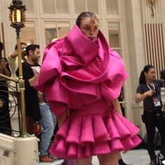 A Fyodor Golan dress at #lfw. Photo by the WSJ's Mary Lane. What do you think of this look?