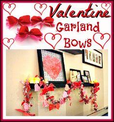 Valentine Garland Bows