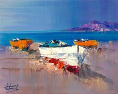 Des barques à la plage - Teixido, Josep
