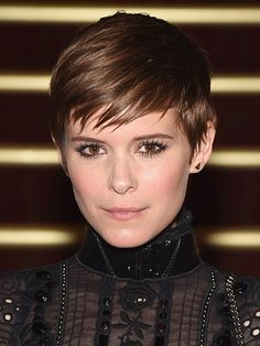 Celebrity Beauty Looks of 2015 - Kate Mara's pixie cut at the Marc Jacobs spring 2016 runway show in New York City | allure.com