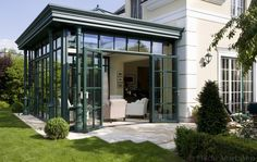 What is an Orangery in Architecture? Porch Garden, Terrace Garden, What Is An Orangery, Outdoor Rooms, Outdoor Living, Porches, Sas Entree, Outside Room, Glass Extension