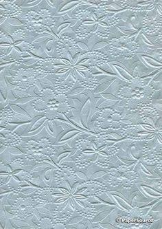 Crafty Paper - Embossed Pearlescent Bloom - Pastel Blue, $2.35 (http://www.craftypaper.com.au/embossed-pearlescent-bloom-pastel-blue/)