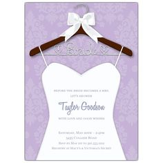Ready To Be Worn Bridal Shower Invitations