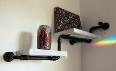 полка из труб ::: pipe shelf