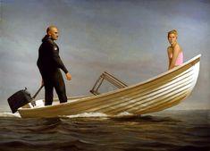 Bo Bartlett - Going Out, 2000 - Oil on Linen - 88 x 120